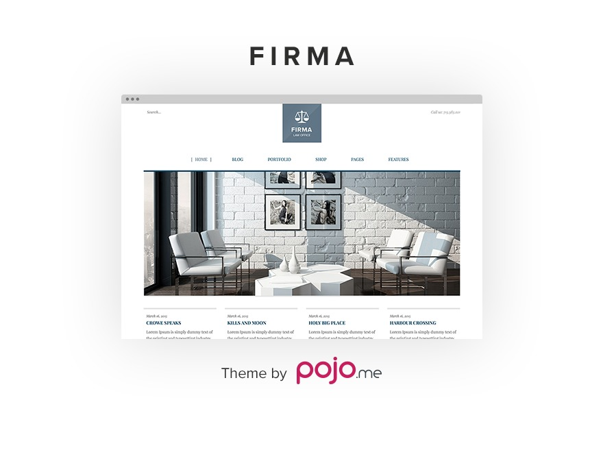 Firma WordPress template for business