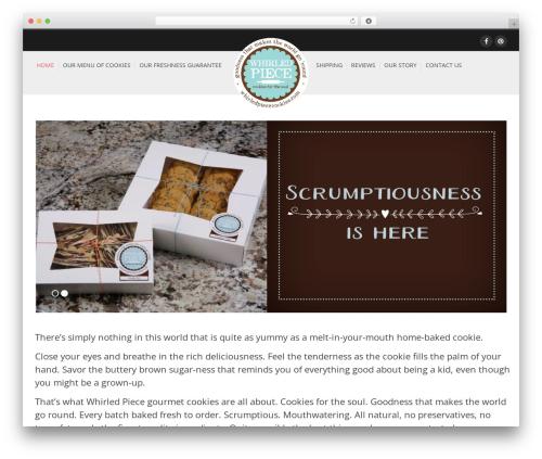 Glamo WordPress theme design - whirledpiececookies.com