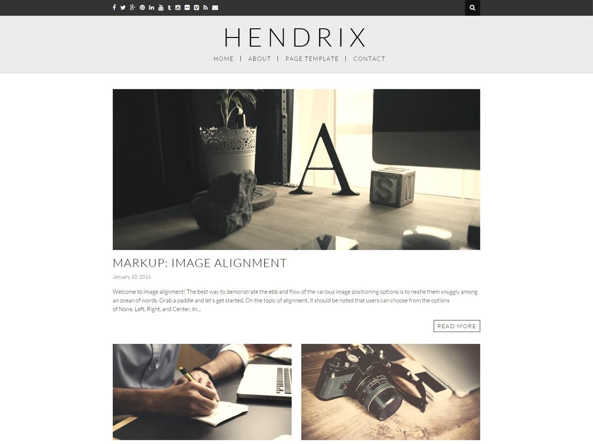 Hendrix WordPress free download