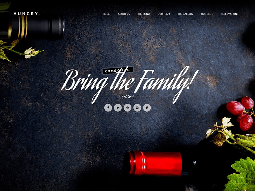 Hungry WordPress restaurant theme