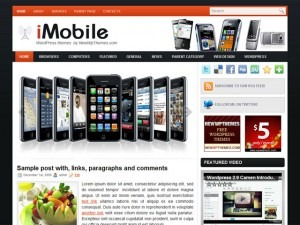 iMobile WordPress page template