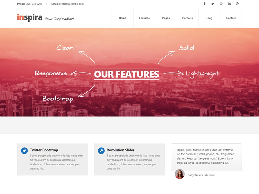 Inspira Theme WordPress news theme