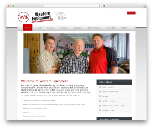 Klasik best WordPress theme - westernequipment.com
