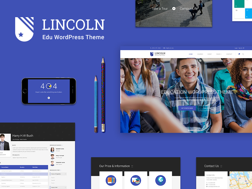 lincoln Child Theme WordPress website template