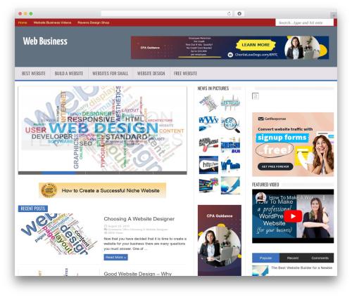 MagNews company WordPress theme - wordpresswebsiteinstallservice.com