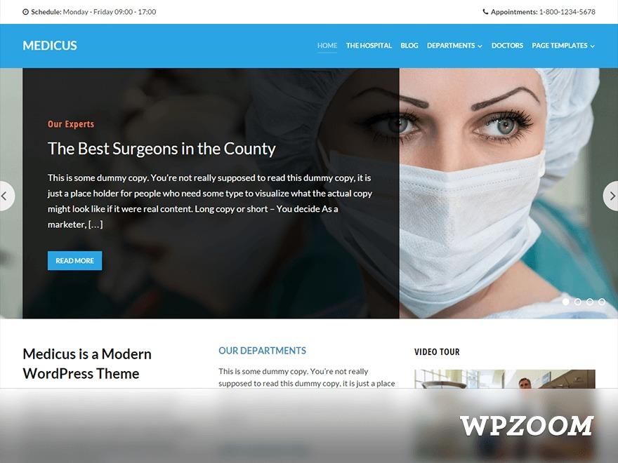 Medicus medical WordPress theme