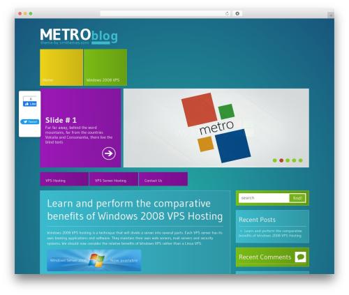 MetroBlog WordPress blog template - windows2008vps.com