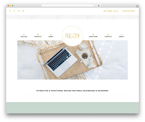 Free WordPress WP Menu Cart plugin - withgreatheart.com