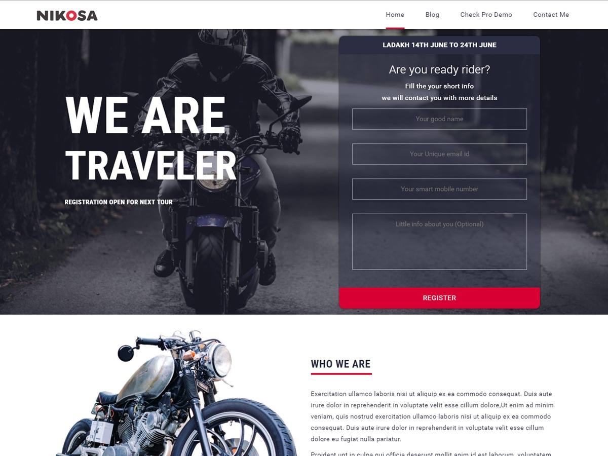 Nikosa WordPress theme download