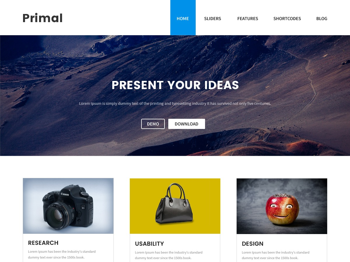 Primal business WordPress theme