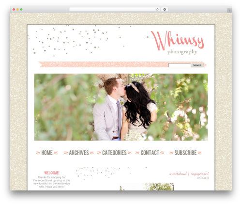 ProPhoto WordPress template for photographers - whimsyphotographyonline.com