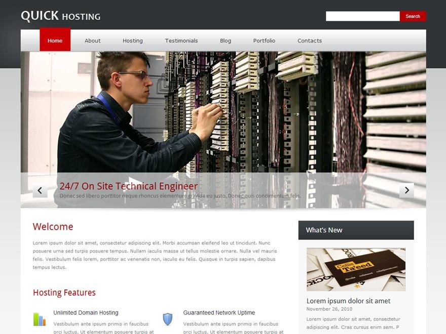 Quickhost company WordPress theme