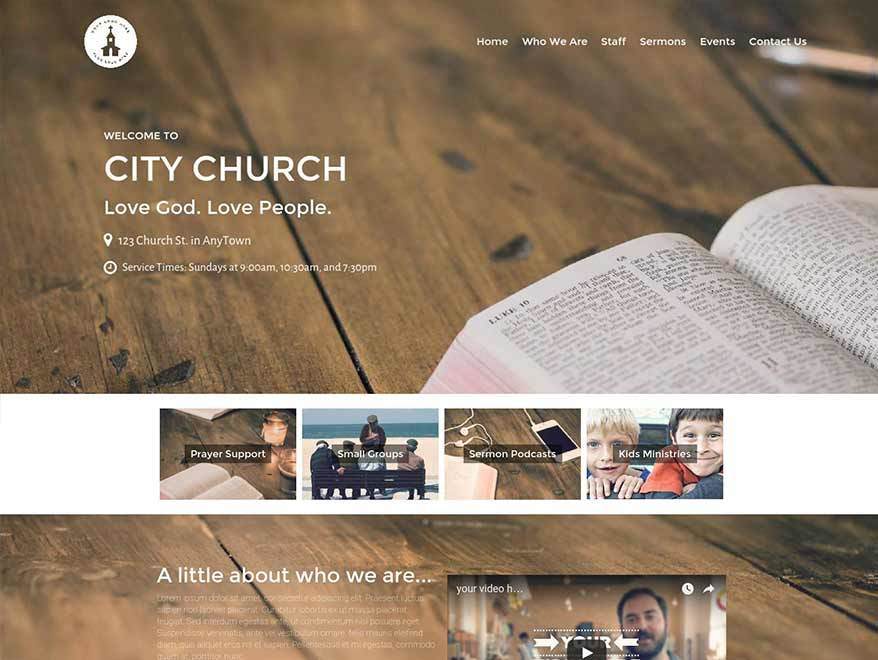 Restore Church Theme Bundle (Child Theme) WordPress store theme