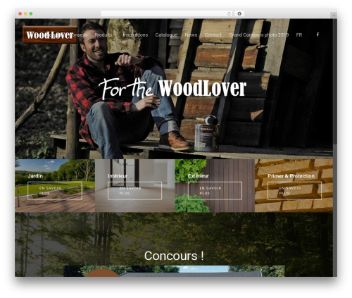 Salient top WordPress theme - woodlover.be