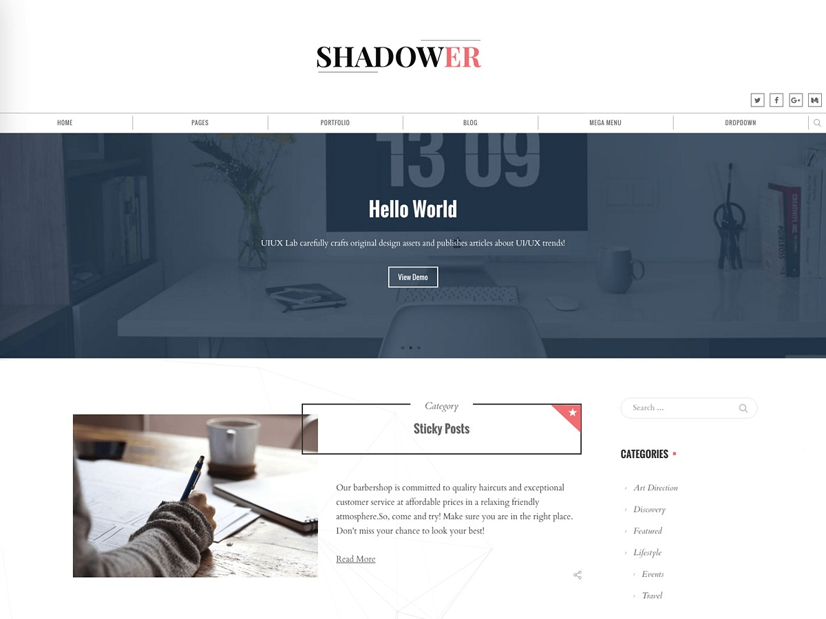 Shadower theme free download