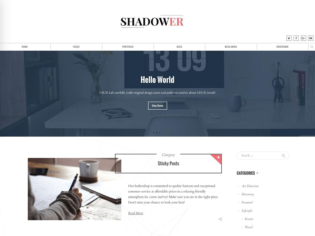 Shadower theme free download