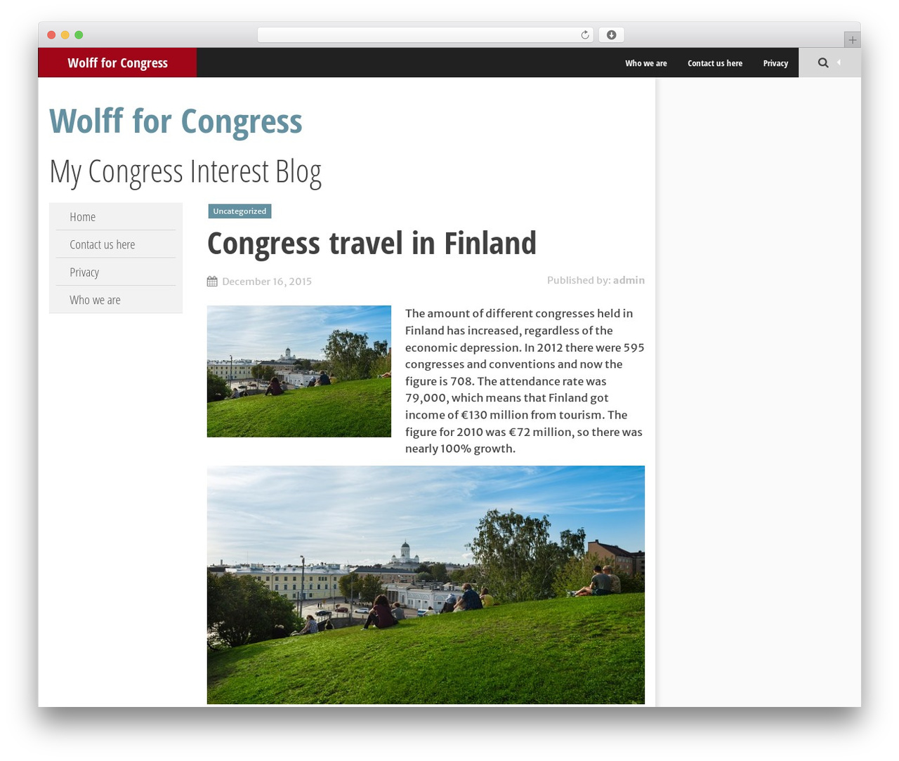 SmartAdapt WordPress theme - wolfforcongress.com