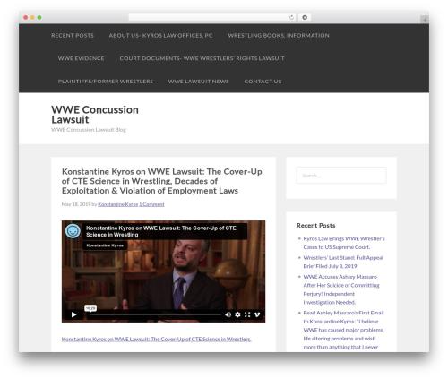 Sumo WordPress blog template - wweconcussionlawsuitnews.com