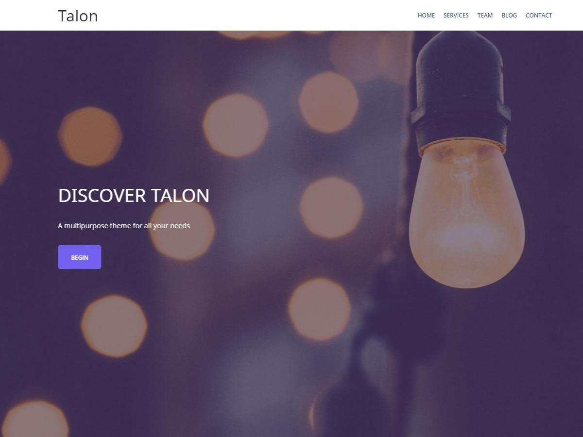 Talon Pro company WordPress theme