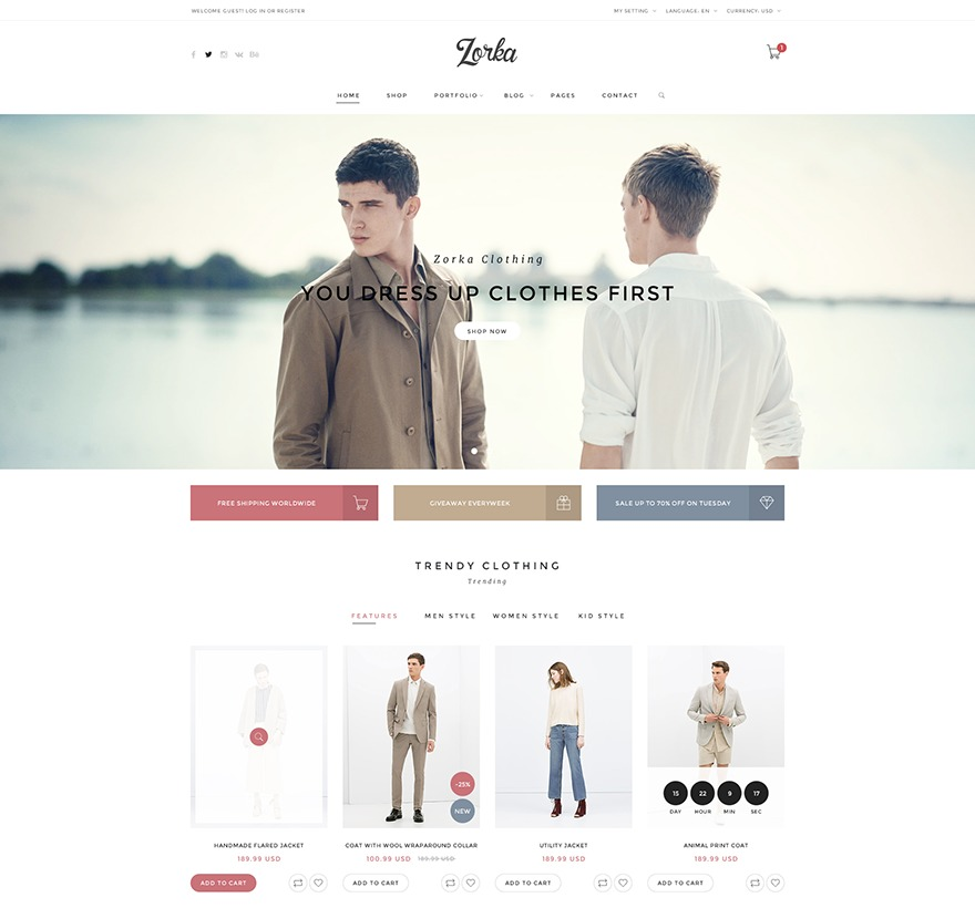 Template WordPress Zorka