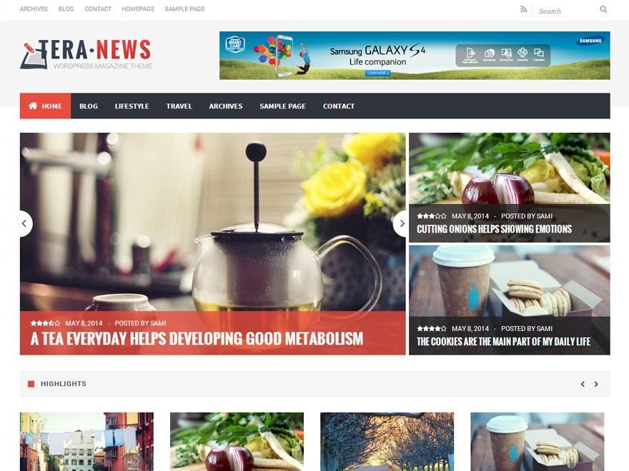 TeraNews WordPress news theme