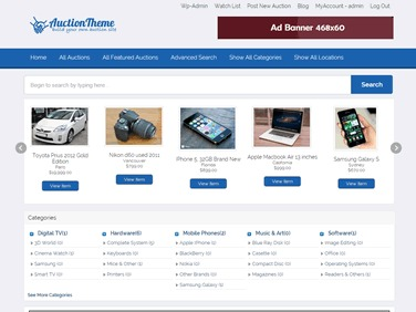 Theme WordPress AuctionTheme Child