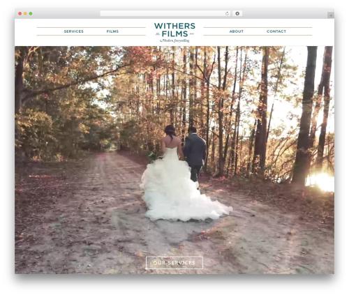 Tides best wedding WordPress theme - withersfilms.com