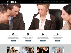 Titania Theme for WordPress WordPress page template