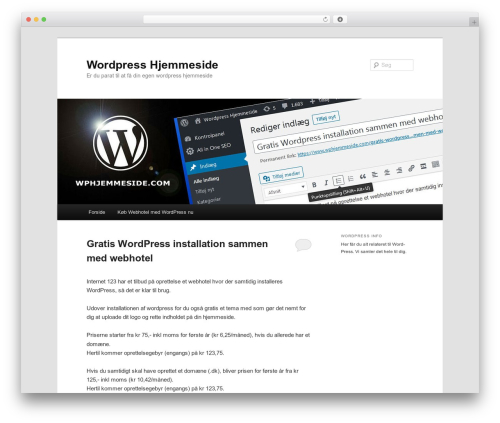 Twenty Eleven free WordPress theme - wordpress-hjemmeside.com
