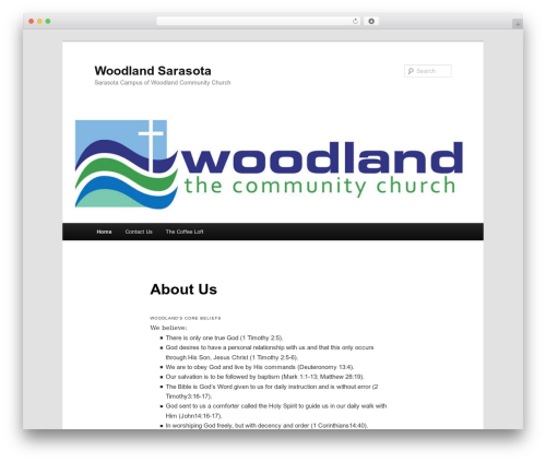 Twenty Eleven theme WordPress - woodlandsarasota.com
