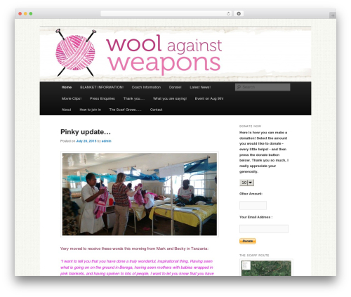 WordPress my-pinterest-badge plugin - woolagainstweapons.co.uk