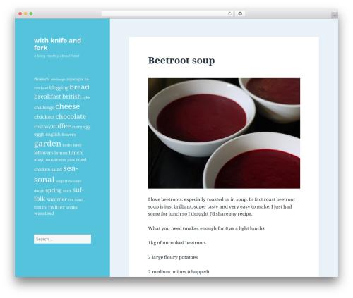 Twenty Fifteen best free WordPress theme - withknifeandfork.com