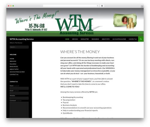 Twenty Fourteen premium WordPress theme - wtmaccounting.com