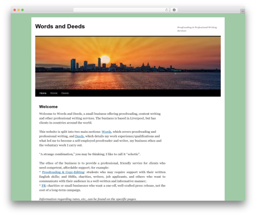 Twenty Ten best WordPress theme - wordsanddeeds.co.uk
