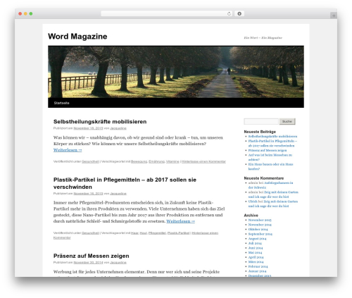 Twenty Ten free WP theme - wordmagazine.ch