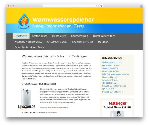 Twenty Thirteen best free WordPress theme - warmwasserspeicher-test.com