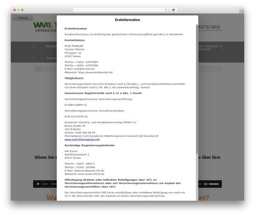 twin T4 top WordPress theme - wvbtennler.de