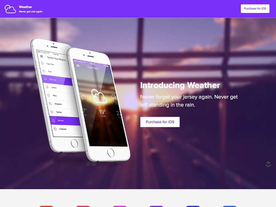 Weather WP template