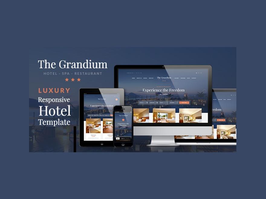 WordPress template Grandium Child