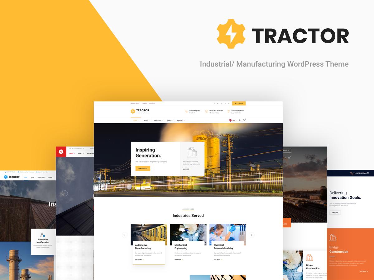 WordPress template Tractor