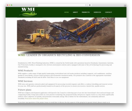 WordPress theme BUILDER THEME - woodmulching.com.au