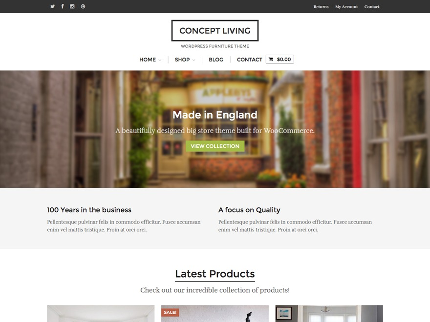 WordPress theme Concept Living
