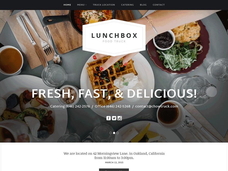 WordPress theme Lunchbox Pro
