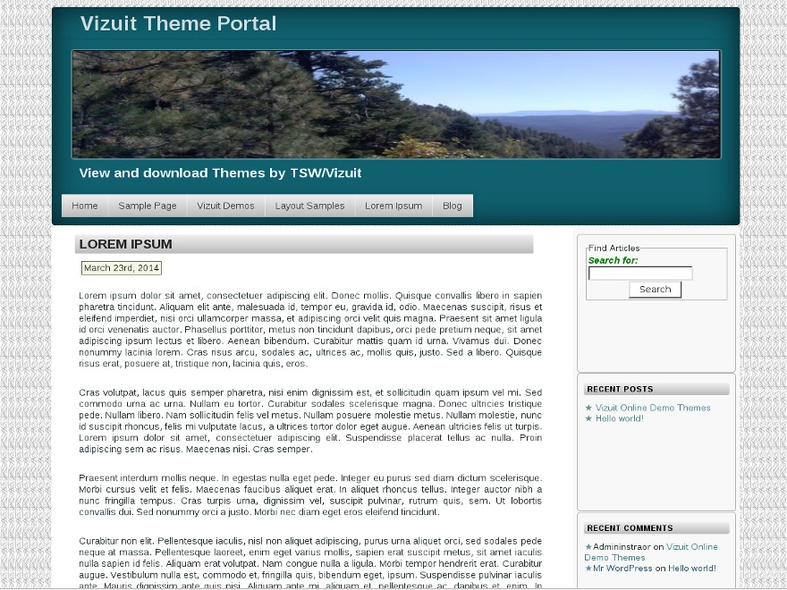 WordPress theme TSWWide