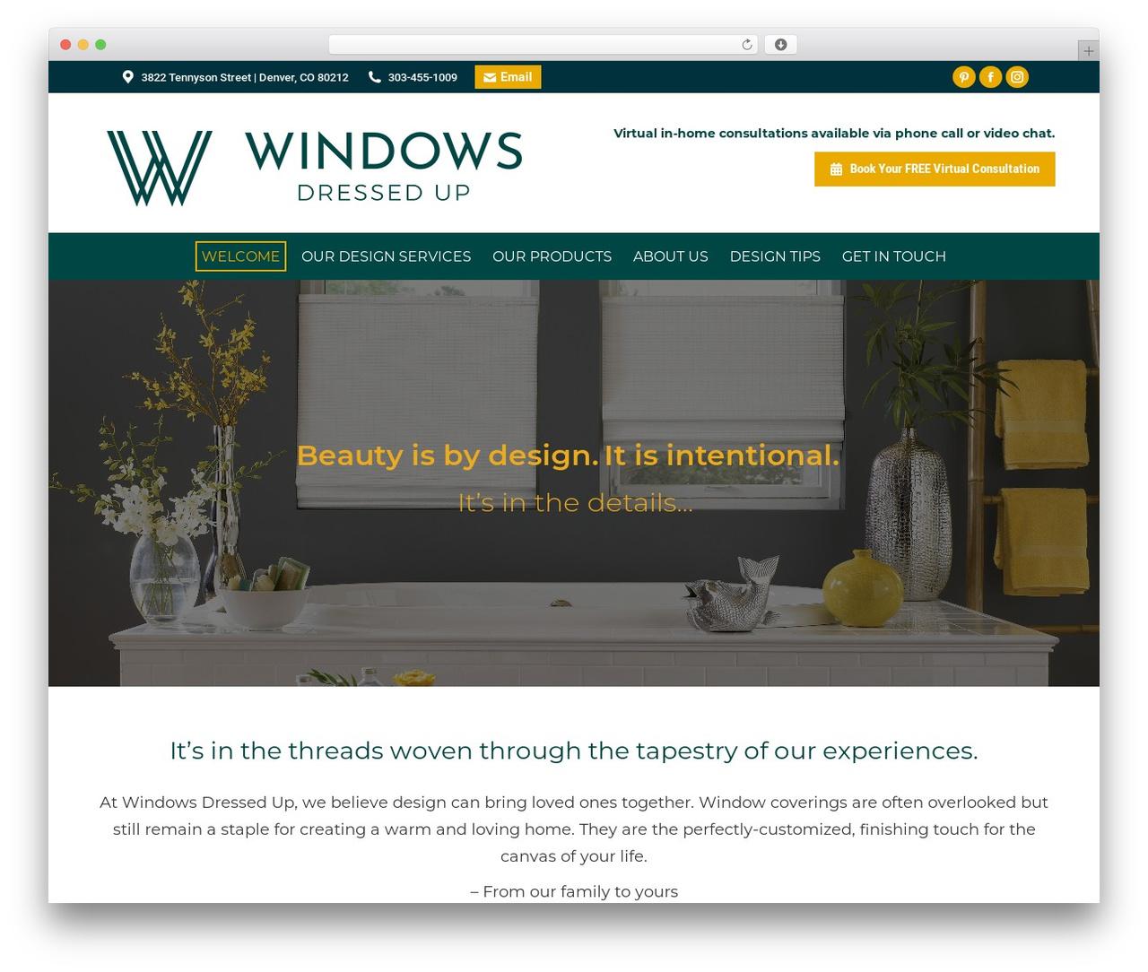 WordPress website template The7 - windowsdressedup.com