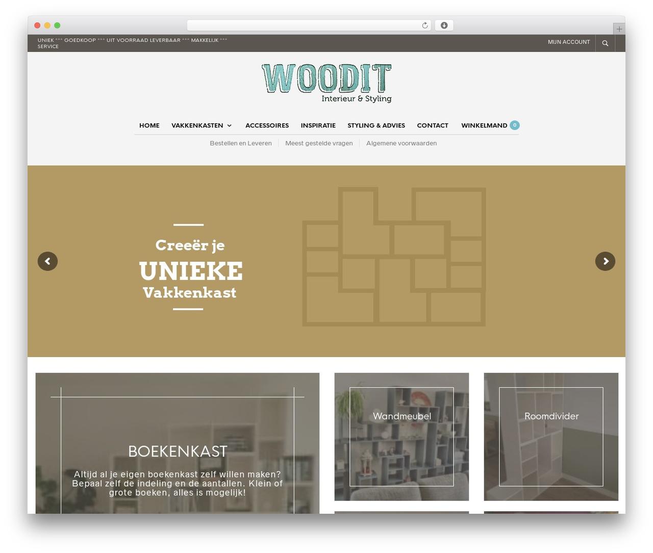 WP theme The Retailer - woodit.nl