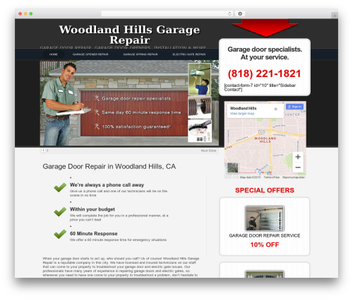 WPLeadPro WordPress theme - woodlandhillsgaragerepair.com