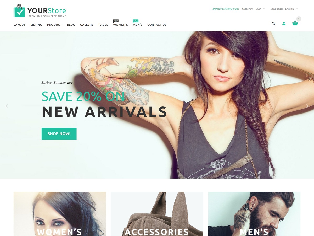 YourStore WordPress ecommerce theme