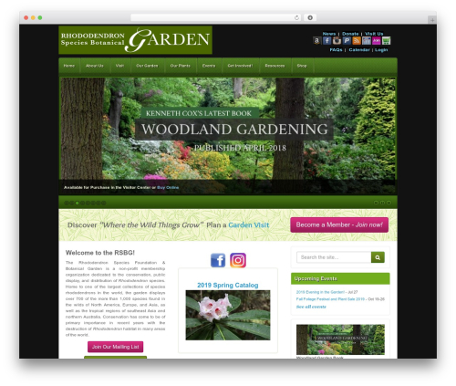 Akita garden WordPress theme - rhodygarden.org/cms
