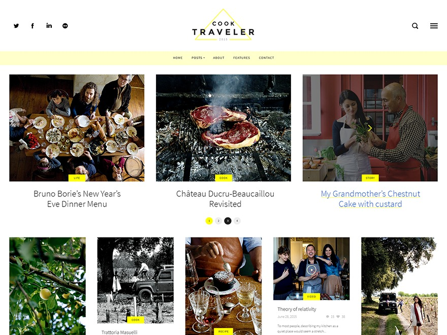 Cook Traveler WordPress blog theme